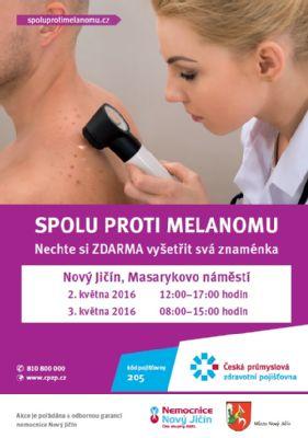 Nemocnice Nový Jičín se zúčastní akce Spolu proti melanomu